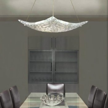Shown in Moonlight Mist Clear Shade with Silver Leaf Finish