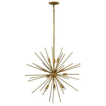 Shown in Burnished Gold finish, 12 Light