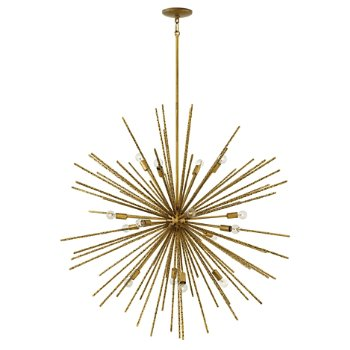 Shown in Burnished Gold finish, 16 Light