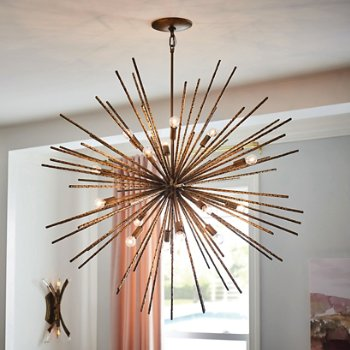 Shown in Burnished Gold finish, 16 Light, in use