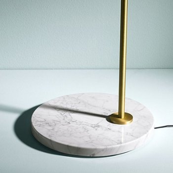 Shown in White Carrara Marble Base
