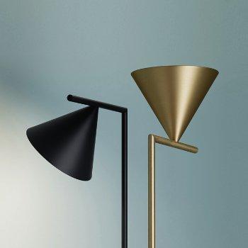 Shown in Brass, Black finish