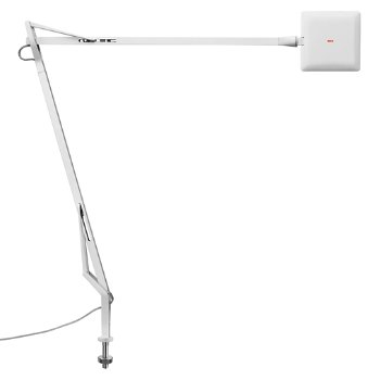 Shown in White finish with Desk Support Visible Cable