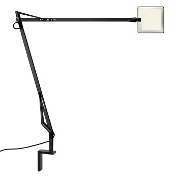 Shown in Black finish with Wall Arm