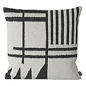 Kelim Throw Pillow - Black Lines
