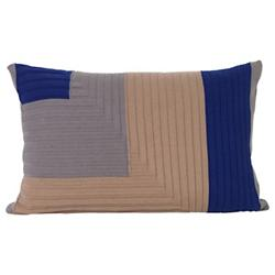 Angle Knit Throw Pillow