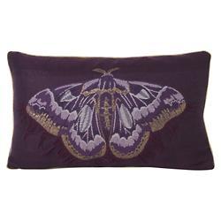 Salon Butterfly Lumbar Pillow