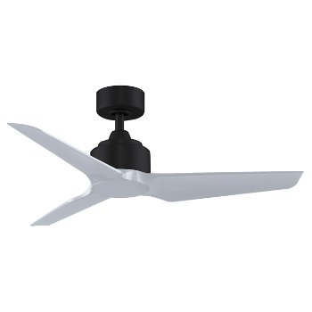 Shown in Silver Fan Blade finish, Black Fan Body finish, 48 inch