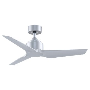 Shown in Silver Fan Blade finish, Silver Fan Body finish, 48 inch