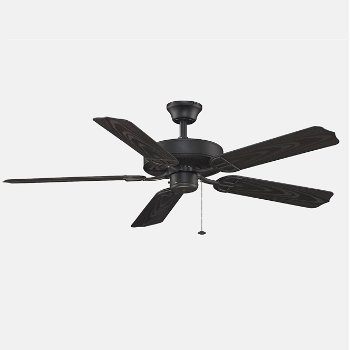 Shown in Black Fan Body With Black Blade finish