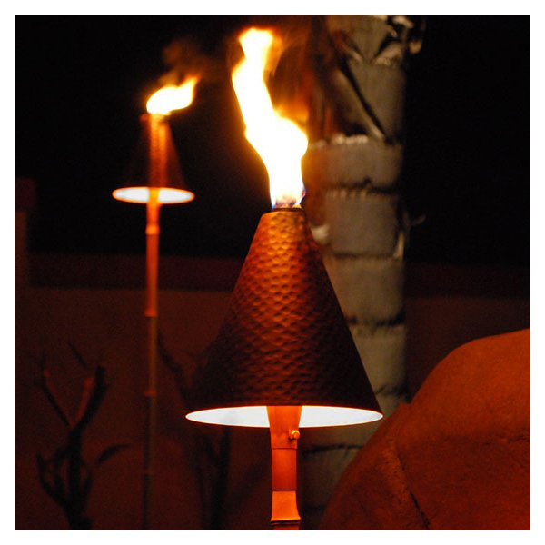 Large Tiki Torch and Light