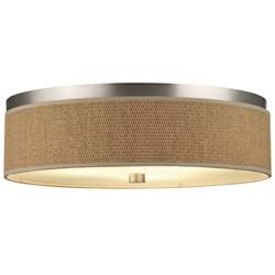 Cassandra Flushmount (Large/Nickel/Natural/CFL) - OPEN BOX