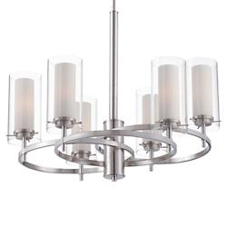 Hula Chandelier (Satin Nickel/6 Lights) - OPEN BOX RETURN