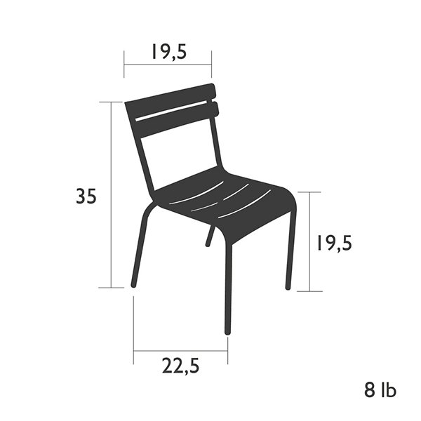 Luxembourg Stacking Side Chair Set of 2