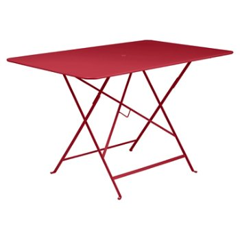 Shown in  Poppy Red Flat Satin, 46 inch x 30 inch