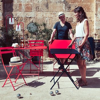 Bistro Rectangle Folding Table, in use