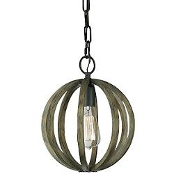 Allier Mini Pendant (Weathered Oak/Iron) - OPEN BOX RETURN