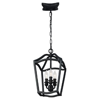 Shown in Antique Forged Iron finish, 3 light