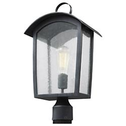 Hodges Outdoor Post Lantern (Ash Black) - OPEN BOX RETURN