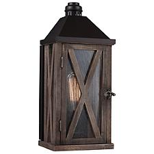 Lumiere Cross-Hatched Outdoor Wall Sconce