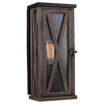 Lumiere Tall Cross-Hatched Outdoor Wall Sconce