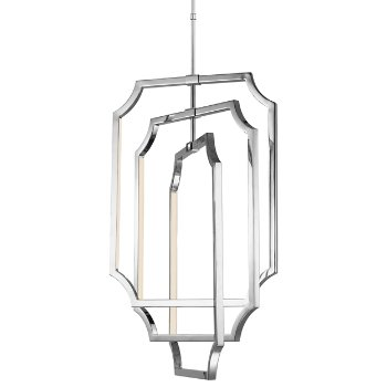 Audrie Large Chandelier (Nickel) - OPEN BOX RETURN