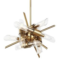 Quorra Mini 12-Light Chandelier (Brass) - OPEN BOX RETURN