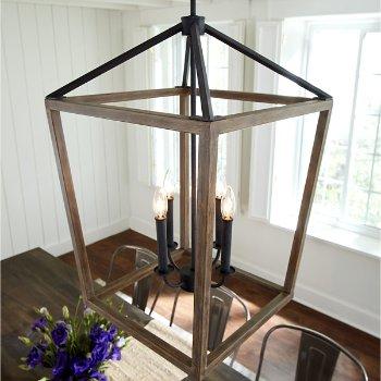 Gannet Chandelier, in use