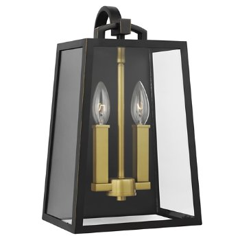 Shown in Antique Bronze, Painted Burnished Brass finish, 2 Light Option