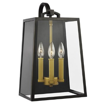 Shown in Antique Bronze, Painted Burnished Brass finish, 3 Light Option