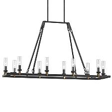 Landen Outdoor Linear Chandelier Light