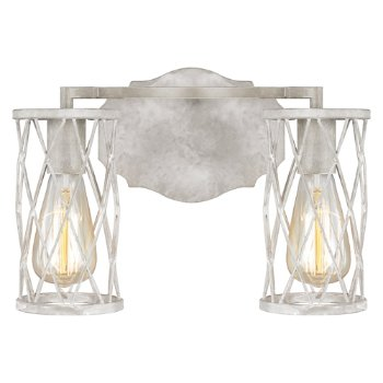 Shown in French Washed Oak and Distressed White Wood finish, 2 Light