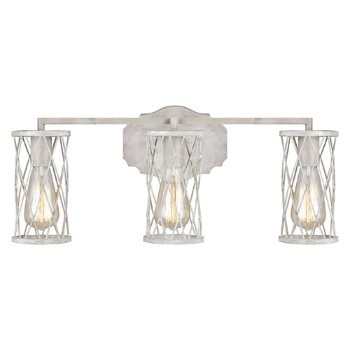 Shown in French Washed Oak and Distressed White Wood finish, 3 Light