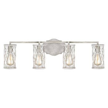 Shown in French Washed Oak and Distressed White Wood finish, 4 Light