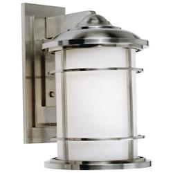 Lighthouse Wall Lantern (Brushed Steel/Large) - OPEN BOX