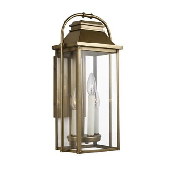 Shown in Painted Distressed Brass finish, 18 inch