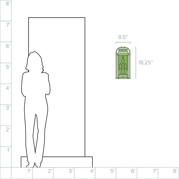 Wellsworth 3-Light Outdoor Wall Sconce