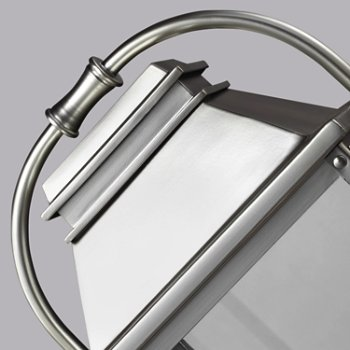 Shown in Painted Brushed Steel  finish