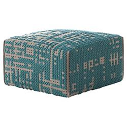 Abstract Square Pouf