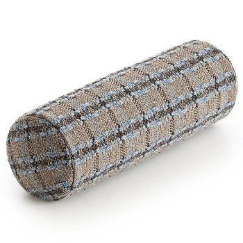 Garden Layers Outdoor Checks Small Roll Cushion