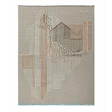 Backstitch Composition Area Rug