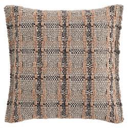 Garden Layers Checks Outdoor Pillow