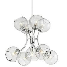Exposed 9-Light Chandelier