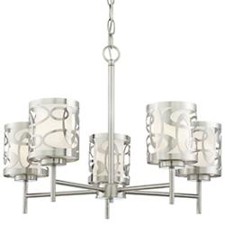 Links 5-Light Chandelier (Brushed Nickel) - OPEN BOX RETURN