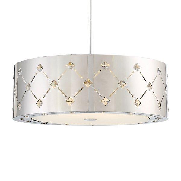 Crowned LED Drum Pendant