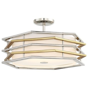Levels LED Convertible Semi-Flushmount / Pendant