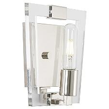 Crystal Chrome Wall Sconce
