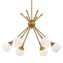 Pontil 6-Light Chandelier (Honey Gold) - OPEN BOX RETURN