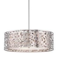 Silver Drum Pendant Lighting