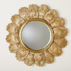 Peacock Feather Mirror